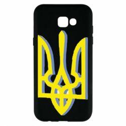 Чехол для Samsung A7 2017 Двокольоровий герб України