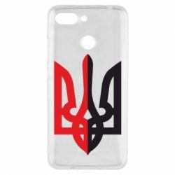 Чехол для Xiaomi Redmi 6 Двокольоровий герб України - FatLine