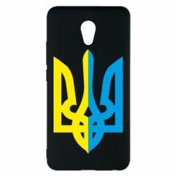 Чехол для Meizu M5 Note Двокольоровий герб України - FatLine