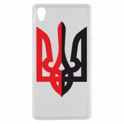 Чехол для Sony Xperia Z3 Двокольоровий герб України - FatLine
