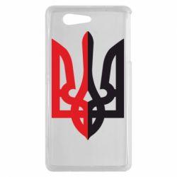 Чехол для Sony Xperia Z3 mini Двокольоровий герб України - FatLine