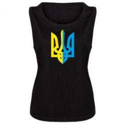 Женская майка Двокольоровий герб України - FatLine