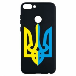 Чехол для Huawei P Smart Двокольоровий герб України - FatLine