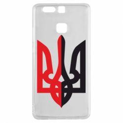 Чехол для Huawei P9 Двокольоровий герб України - FatLine