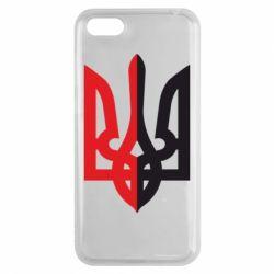 Чехол для Huawei Y5 2018 Двокольоровий герб України - FatLine