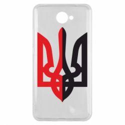 Чехол для Huawei Y7 2017 Двокольоровий герб України - FatLine