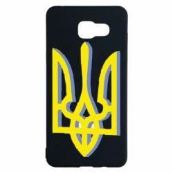 Чохол для Samsung A5 2016 Двокольоровий герб України