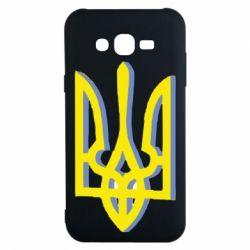 Чохол для Samsung J7 2015 Двокольоровий герб України