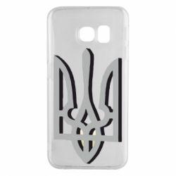Чехол для Samsung S6 EDGE Двокольоровий герб України
