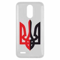 Чехол для LG K10 2017 Двокольоровий герб України - FatLine