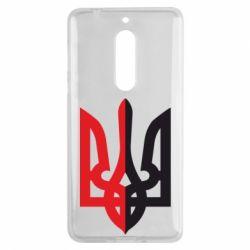 Чехол для Nokia 5 Двокольоровий герб України - FatLine