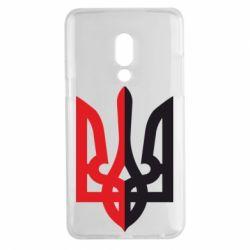 Чехол для Meizu 15 Plus Двокольоровий герб України - FatLine