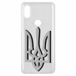 Чехол для Xiaomi Mi Mix 3 Двокольоровий герб України