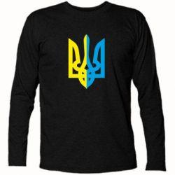Футболка с длинным рукавом Двокольоровий герб України - FatLine
