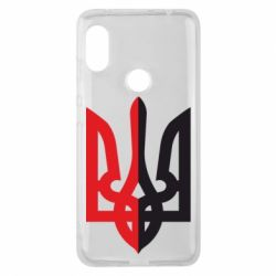 Чехол для Xiaomi Redmi Note 6 Pro Двокольоровий герб України - FatLine