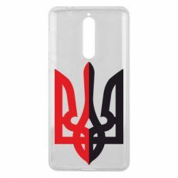 Чехол для Nokia 8 Двокольоровий герб України - FatLine