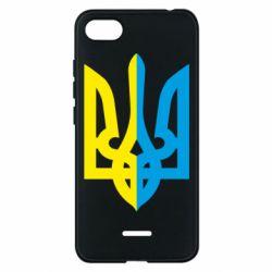 Чехол для Xiaomi Redmi 6A Двокольоровий герб України - FatLine