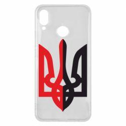 Чехол для Huawei P Smart Plus Двокольоровий герб України - FatLine