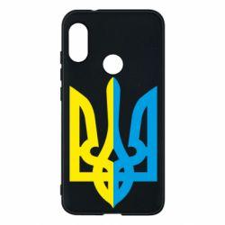 Чехол для Mi A2 Lite Двокольоровий герб України - FatLine