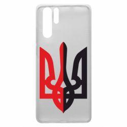Чехол для Huawei P30 Pro Двокольоровий герб України - FatLine