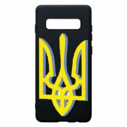 Чохол для Samsung S10+ Двокольоровий герб України