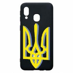 Чехол для Samsung A40 Двокольоровий герб України