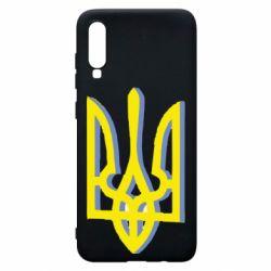 Чохол для Samsung A70 Двокольоровий герб України