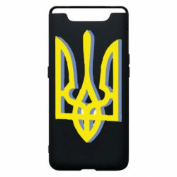 Чохол для Samsung A80 Двокольоровий герб України