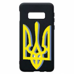 Чехол для Samsung S10e Двокольоровий герб України
