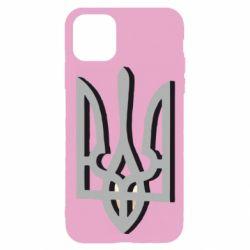 Чехол для iPhone 11 Pro Двокольоровий герб України