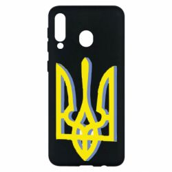 Чохол для Samsung M30 Двокольоровий герб України