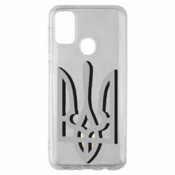 Чохол для Samsung M30s Двокольоровий герб України