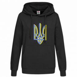 Женская толстовка Двокольоровий герб України - FatLine