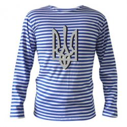 Тельняшка с длинным рукавом Двокольоровий герб України - FatLine