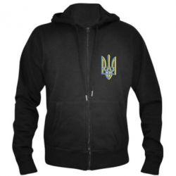 Чоловіча толстовка на блискавці Двокольоровий герб України