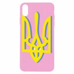 Чехол для iPhone X/Xs Двокольоровий герб України
