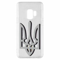 Чохол для Samsung S9 Двокольоровий герб України