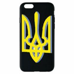 Чехол для iPhone 6/6S Двокольоровий герб України