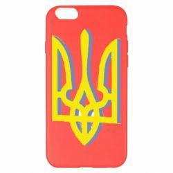 Чохол для iPhone 6 Plus/6S Plus Двокольоровий герб України