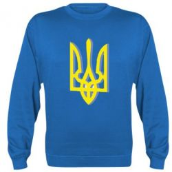 Реглан (свитшот) Двокольоровий герб України - FatLine