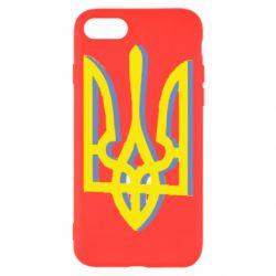 Чехол для iPhone 7 Двокольоровий герб України