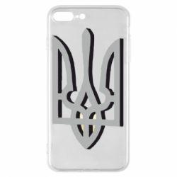 Чехол для iPhone 7 Plus Двокольоровий герб України