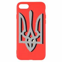 Чехол для iPhone 8 Двокольоровий герб України
