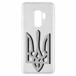 Чехол для Samsung S9+ Двокольоровий герб України
