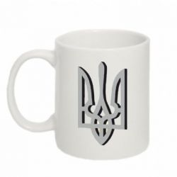 Кружка 320ml Двокольоровий герб України - FatLine