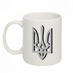 Кружка 320ml Двокольоровий герб України