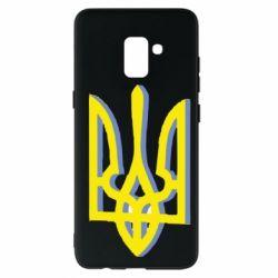 Чехол для Samsung A8+ 2018 Двокольоровий герб України
