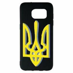 Чохол для Samsung S7 EDGE Двокольоровий герб України
