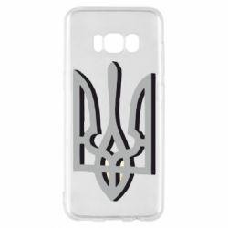 Чехол для Samsung S8 Двокольоровий герб України