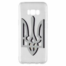 Чехол для Samsung S8+ Двокольоровий герб України